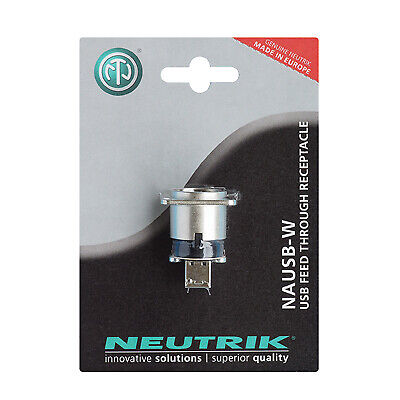 Neutrik NAUSB-W-POS USB A To USB B Coupler In D Chassis Mounting Blister  • 6.80£