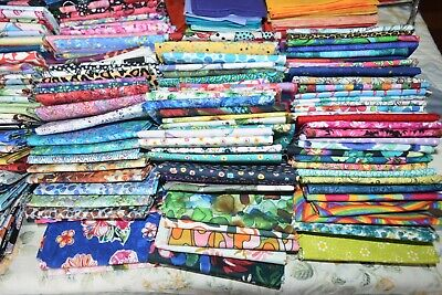 AU3.25 • Buy Fat Quarters Patchwork And Quilting Fabric 100 Different Designs