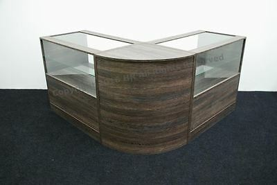 £499.99 • Buy Shop Counters Zebrano Set Of 3 Units Glass Display Shop Counter Retail Rmu Stand
