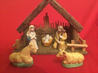 £14.95 • Buy Nativity Stable With Joseph, Mary, Baby Jesus And 2 Animals