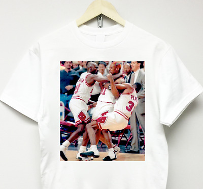 $ CDN30.33 • Buy DENNIS RODMAN T-SHIRT White Vtg Rap Off Chicago Bulls Jordan Supreme 90's Flight