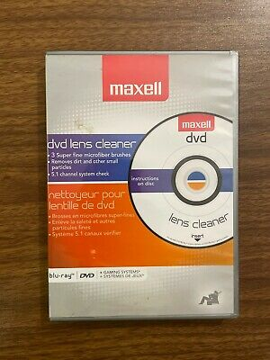 £18.09 • Buy Maxell Lens Cleaner Dvd & Blu-ray Players, Gaming Systems Ps3 Xbox 360 New