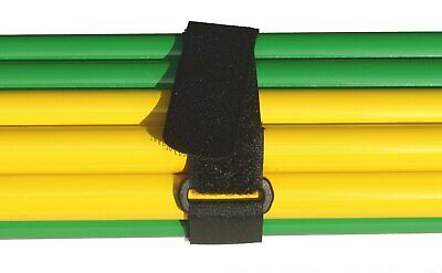 £2.39 • Buy Alfatex® By Velcro® Brand Straps Cable Ties Strap With Buckle Black 2.5CM X 25CM