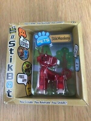 New Original Boxed Stikbot Pets Figure - StikMonkey Red - Brand New • 5£