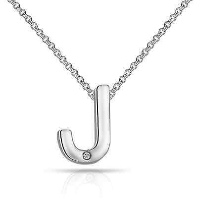 £7.95 • Buy Initial Necklace Letter J Created With Swarovski® Crystals By Philip Jones