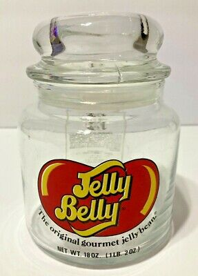 £4.96 • Buy Jelly Belly 18 Ounce Collectible Glass Jar The Original Gourmet Jelly Bean