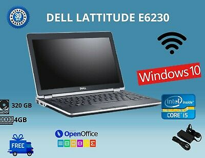Dell E6230 INTEL CORE I5-3RD GEN,12.5 , HDD:320GB RAM:4GB WIN 10 WIFI USB HDMI • 133.99£