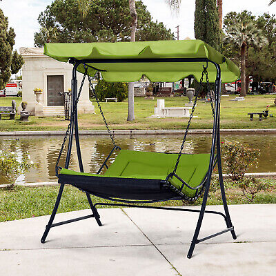 £189.99 • Buy Outsunny Canopy Swing Chair Garden Hammock Bench Outdoor Lounger Bed 2 Seater