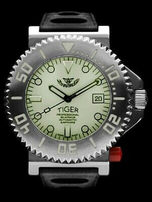 $ CDN2010.48 • Buy NEW Store DIsplay Squale 30 ATMOS Tiger White Lume 44mm Watch - 2 Year Warranty