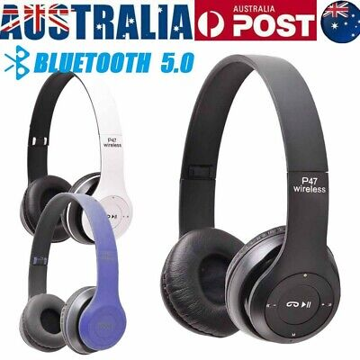 AU13.95 • Buy Wireless Headphones Bass Bluetooth Headset Noise Cancelling Bluetooth Earphones