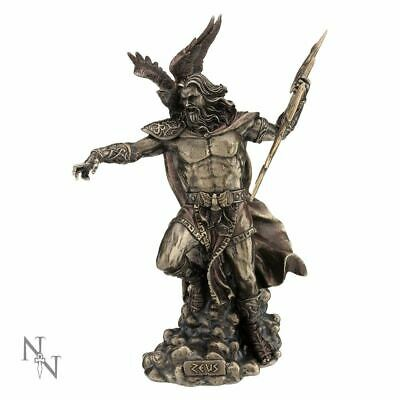 Zeus King Of The Gods Statue Greek Mythology Figurine Bronzed Sculpture Ornament • 89.95£