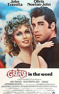 £3.99 • Buy Grease John Travolta 1978 Musical Comedy Film Print Poster Wall Art Picture A4 +