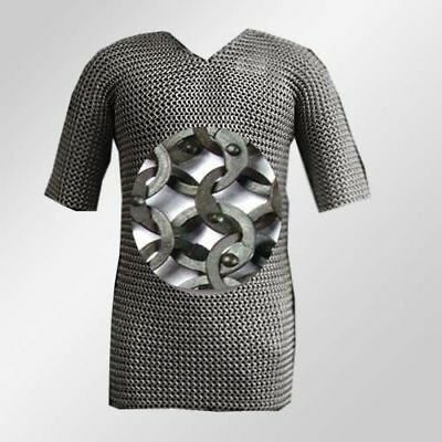 Colletibles Militaria Stainless Steel Chainmail RIVETED Chain Mail Reenactment • 186.63£