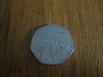 RARE 2015 50p FIFTY PENCE COIN - BATTLE OF BRITAIN 1940 - 75th ANNIVERSARY • 1.89£