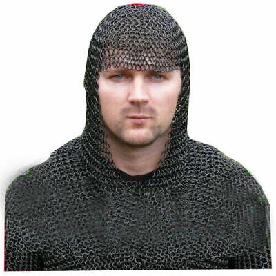 Medieval & Renaissance Chainmail Coif Chain Mail Hood Reenactment & Theater • 49.87£