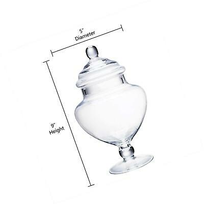 Clear Glass Buffet Container Wedding Storage Jars Candy W/ Lid A H:9  D:5  NEW • 17.56£