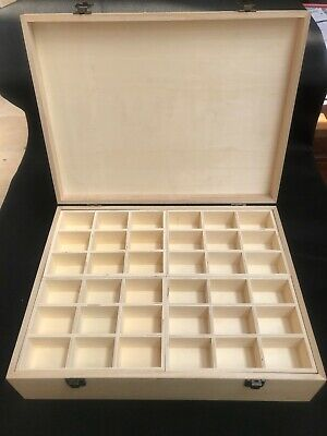 Beautiful Wooden Box With 60 Compartments Beads, Jewelry, Tools Extra Large NEW  • 32.99£