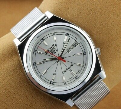 $ CDN62.49 • Buy VINTAGE SEIKO 5 EXCELLENT SILVER  DIAL AUTOMATIC JAPAN MEN'S  WRIST WATCH 37.5mm