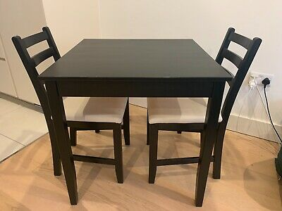 Slightly Used: IKEA Black Dining Table & Chairs • 70£