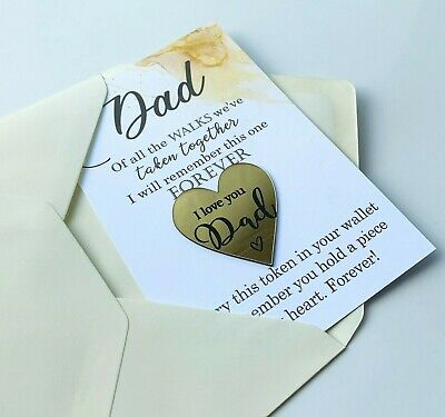 £3.45 • Buy Gift For Father Of The Bride Wedding Pocket Token Wallet Insert Fathers Day Dad
