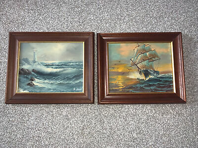 Beautiful Pair Of Sea Paintings • 4.99£