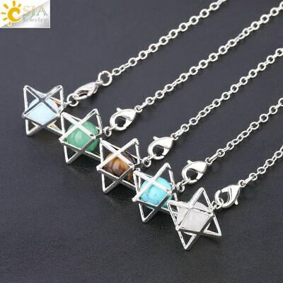 Merkaba Pendulum With Crystal Sphere For Dowsing • 8.99£