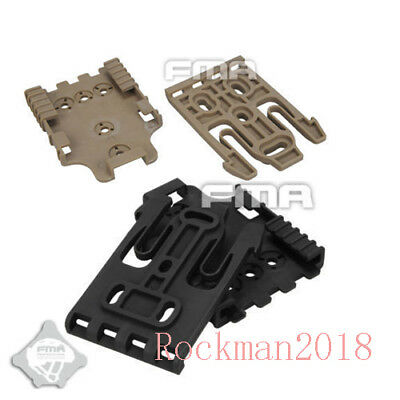 $ CDN10.54 • Buy FMA Tactical Airsoft Safariland Duty Holster QLS Kit Quick Locking System BK/DE