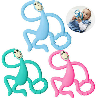 £5.51 • Buy Matchstick Monkey Teether Toy Baby BPA Free Silicone Food Grade Teething