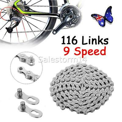 AU14.99 • Buy NEW 116 Links Bicycle Chain For CN-HG73 LX 9 Speed Deore Mountain Bike Chains OZ