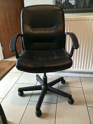 IKEA Moses Black Office Chair With Armrests, New Wheels, Collect Solihull B93 • 29£