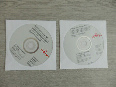 Genuine Fujitsu Recovery Discs - Windows 7 Prof SP1 32 And 64 Bit • 14£