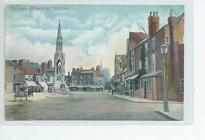Printed Postcard Of The Clarkson Memorial Wisbech Cambridgeshire Good Condition  • 6£