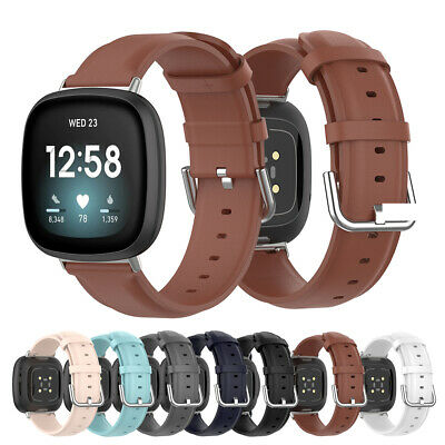 $ CDN9.51 • Buy Genuine Leather Watch Band Watchband Loop Strap For Fitbit Versa 3 Sense
