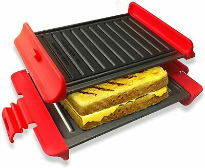 £25.03 • Buy Microwavable Grill Portable Sandwich Maker Panini & Waffle Press With Non-Stick
