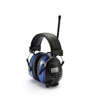 Rechargeable Ear Defenders With Bluetooth, FM/AM Digital Radio And Built-in Micr • 99.84£