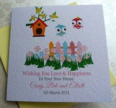 £3.99 • Buy Personalised Handmade New Home House Warming Card 6  Square