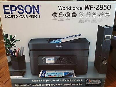 View Details Epson Wifi Printer WF 2850 Wireless Scan Copy Fax All-In-One Inkjet INK INCLUDED • 109.98$
