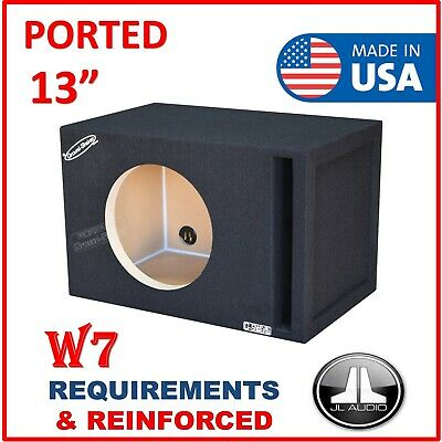 $ CDN241.05 • Buy 13  Single Ported / Vented Sub Box Subwoofer Enclosure For JL Audio W7 13  Box