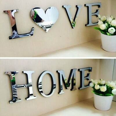 Letter Love .Home Wonderful Mirror Wall Decals Stickers Self-Adhesive Art Decor • 8.45£