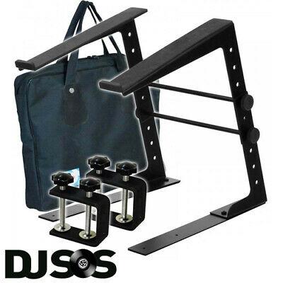 Soundlab Height & Width Adjustable DJ Laptop Stand Computer Table Clamps + Case • 25.49£