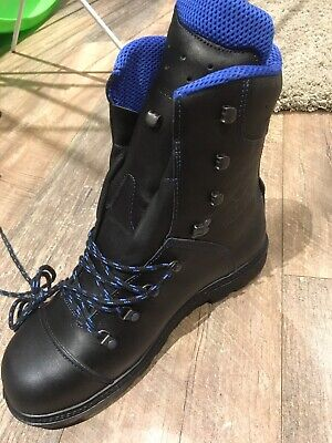 HAIX Chainsaw Boots Climber Boots Blue Mountain Size 9.5 Uk • 75£