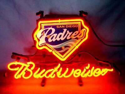 $ CDN74.48 • Buy BUDWEISER San Diego Padres MLB Gift Beer Bar Club Pub Display Neon Light Sign