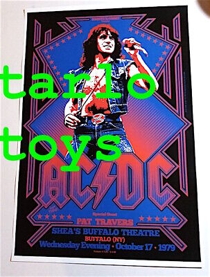 $19.99 • Buy AC/DC ACDC Angus Young - Buffalo, Us - 17 October 1979  - Concert Poster