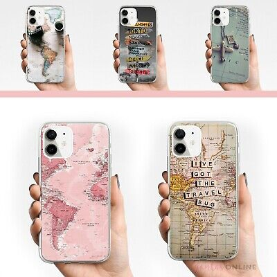£7.06 • Buy Shockproof World Map Slim Fit Case Cover For IPhone 11 12 MINI PRO MAX X SE 2020