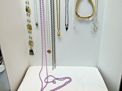 Lot Of 10 Costume Necklaces, Faux Horn, & More, Great Variety, Great Value 1K • 0.70£