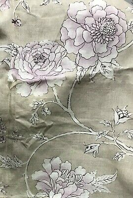 Nina Campbell Bovary Fabric 1.8 Metre Length X 1.4m Beautiful  Taupe Pink White • 19£