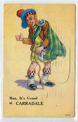 £4.95 • Buy MAN, IT'S GRAND AT CARRADALE: Argyll Novelty Pull-out Postcard (C57742)