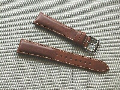 Genuine Leather Quick Release Padded Watch Strap 20mm Brown By Geckota • 3.99£
