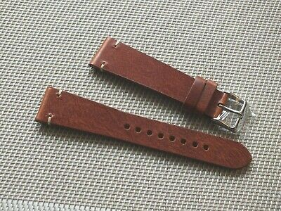 Genuine Leather Quick Release Watch Strap 20mm Nut Brown By Geckota • 6.50£