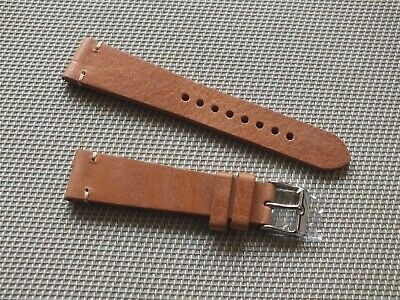 Genuine Leather Quick Release Watch Strap 20mm Tan Brown By Geckota • 6.50£